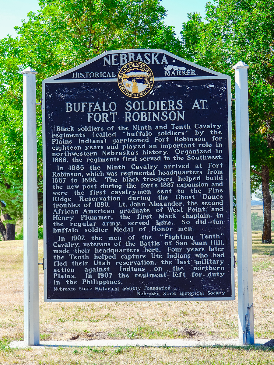 Buffalo soldiers at Fort Robinson