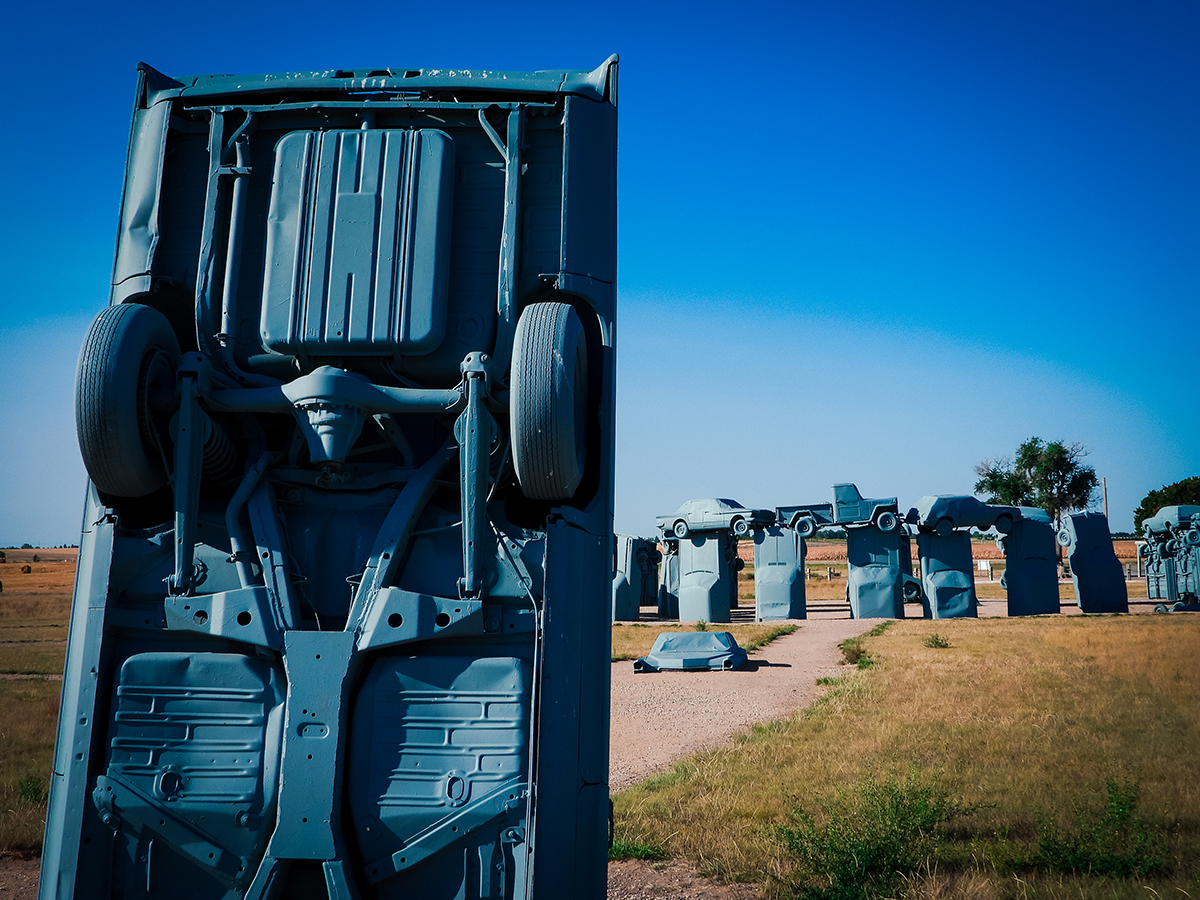 Car Henge circle in Nebraska