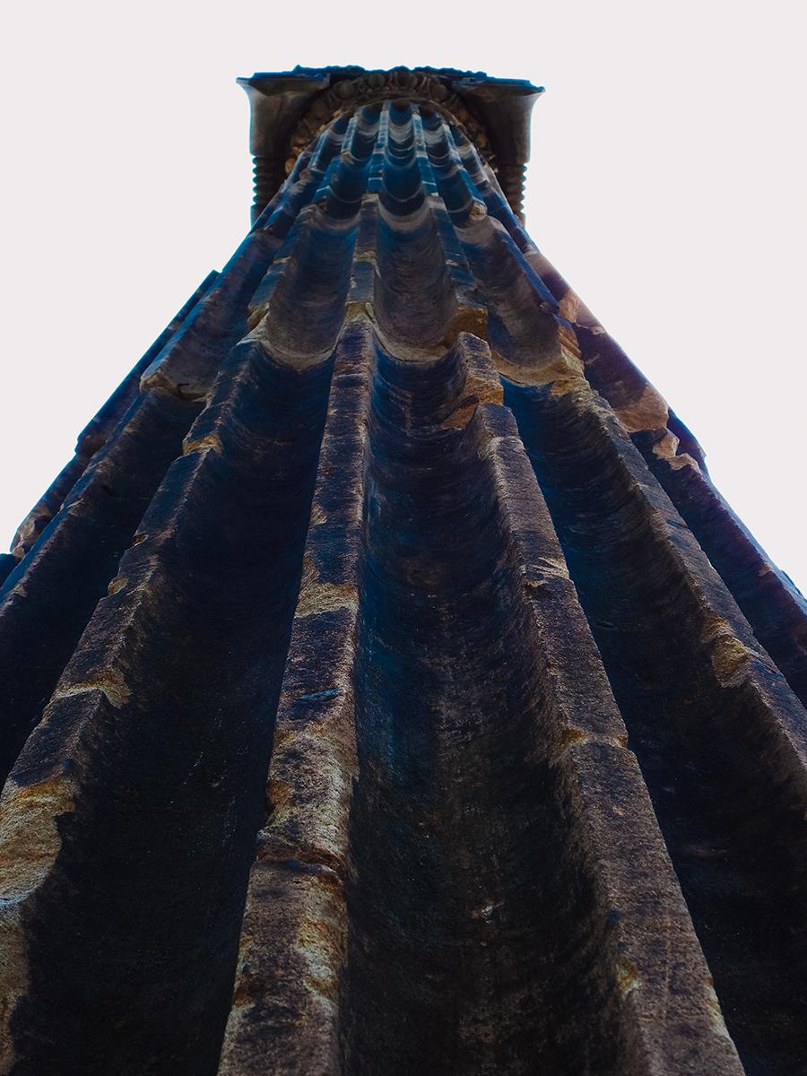 Pioneer Park pillar in Lincoln, Nebraska