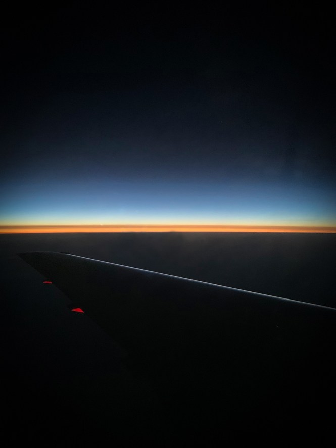 Sunrise on return flight