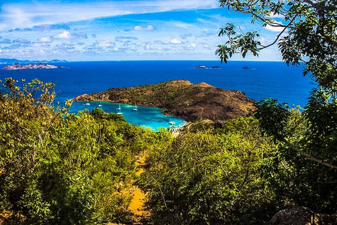 Lookout point in St. Bart's, one of the best Caribbean islands to visit.
