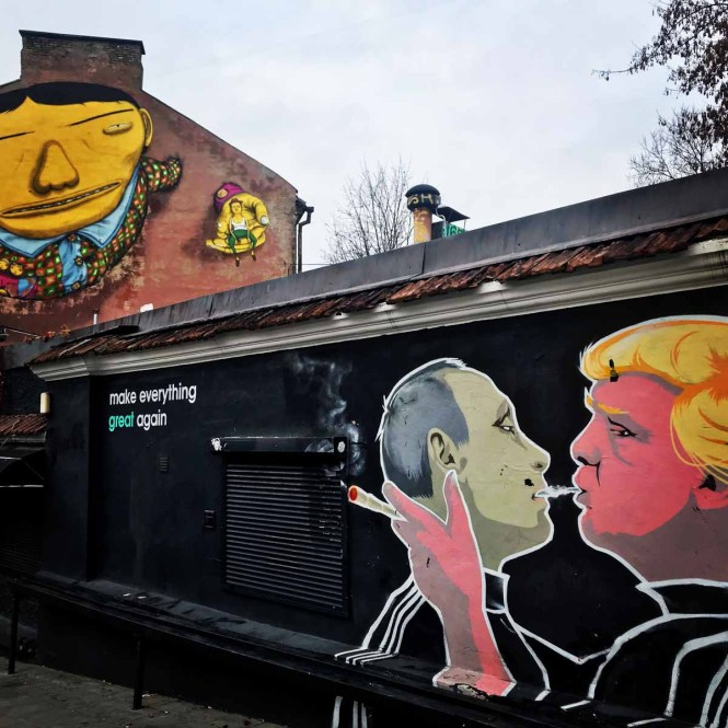 Make Everything Great Again mural in Vilnius, Lithuania