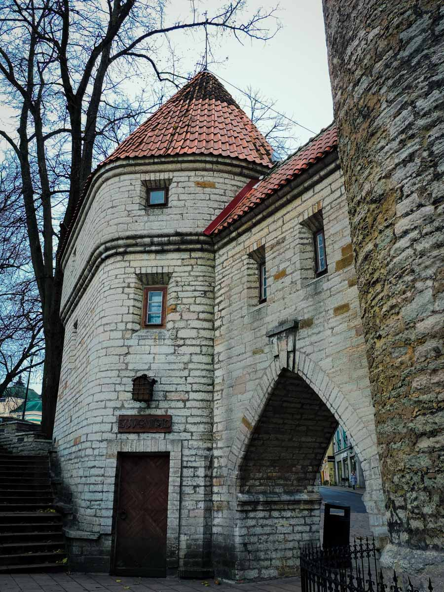 Old tower in Old Town Tallinn