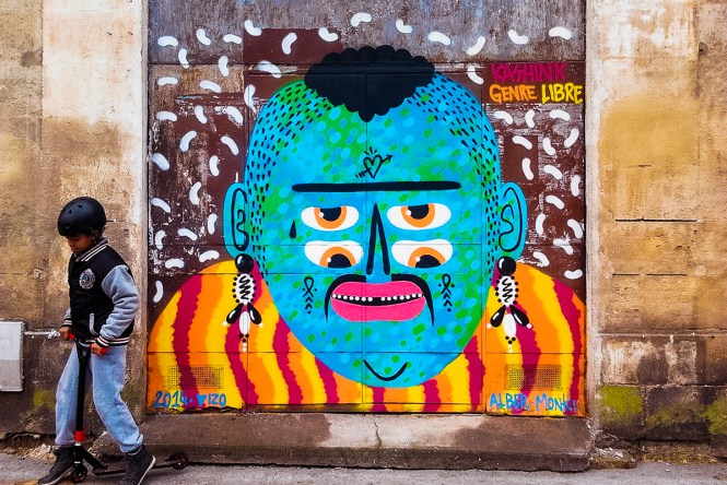 Colorful graffiti in Bordeaux, one of the best cities in France to visit