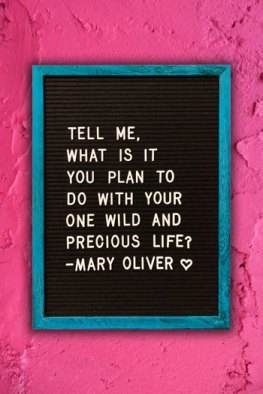Mary Oliver quote on letter board