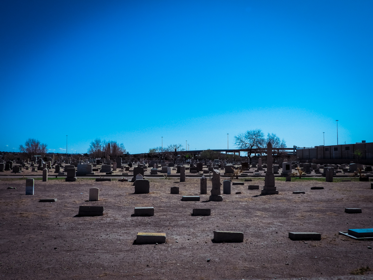 Concordia Cemetery next to L&J Cafe in El Paso, Texas