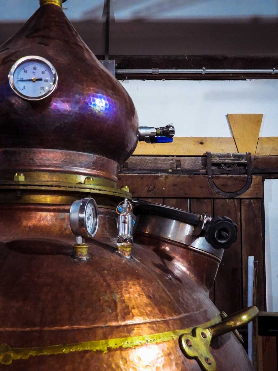 H Clark Distillery still