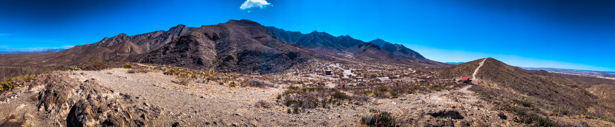 Panoramic of Franklin Mountains