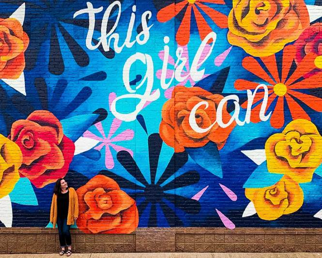Walls for Women mural in Nolensville, one of many awesome things to do around Franklin, TN