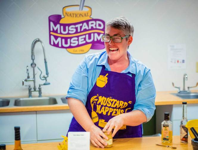 the national mustard museum, just one of many awesome things to do in madison wisconsin