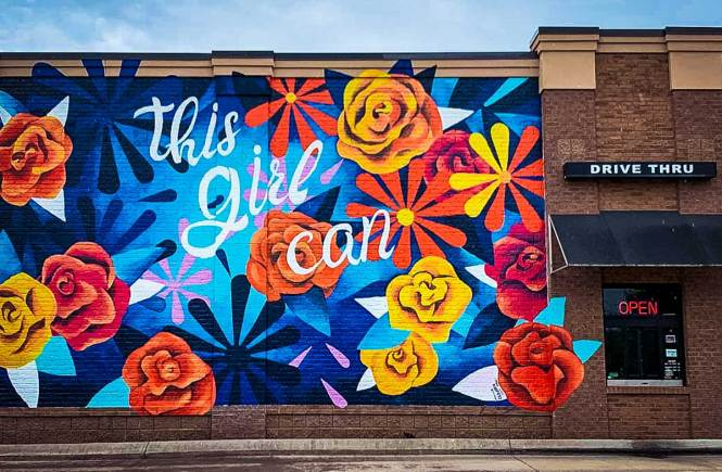 """Visit """"This Girl Can"""" mural, one of the awesome things to do outside Franklin, TN"""
