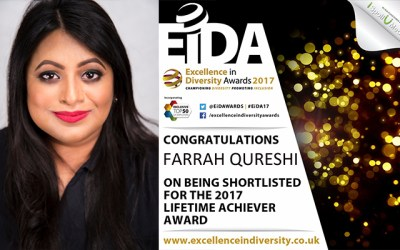 Global Expert in Diversity & Inclusion Shortlisted for Lifetime Achievement Award