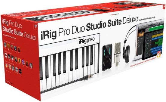 IK Multimedia iRig Pro Duo Studio Suite complete recording bundle for iPhone, iPad & Mac:PC, interface