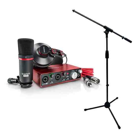Focusrite Scarlett 2i2 MKII Studio Recording Bundle (2nd Gen)