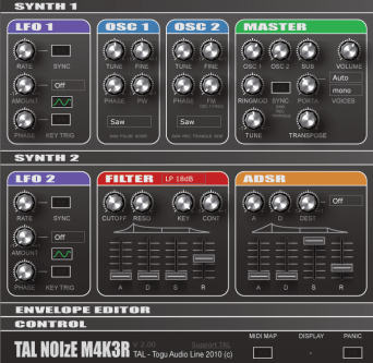 TAL-NoiseMaker vst plug-in instrument