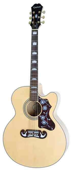 Epiphone EJ-200SCE Solid Top Cutaway Acoustic :Electric Guitar