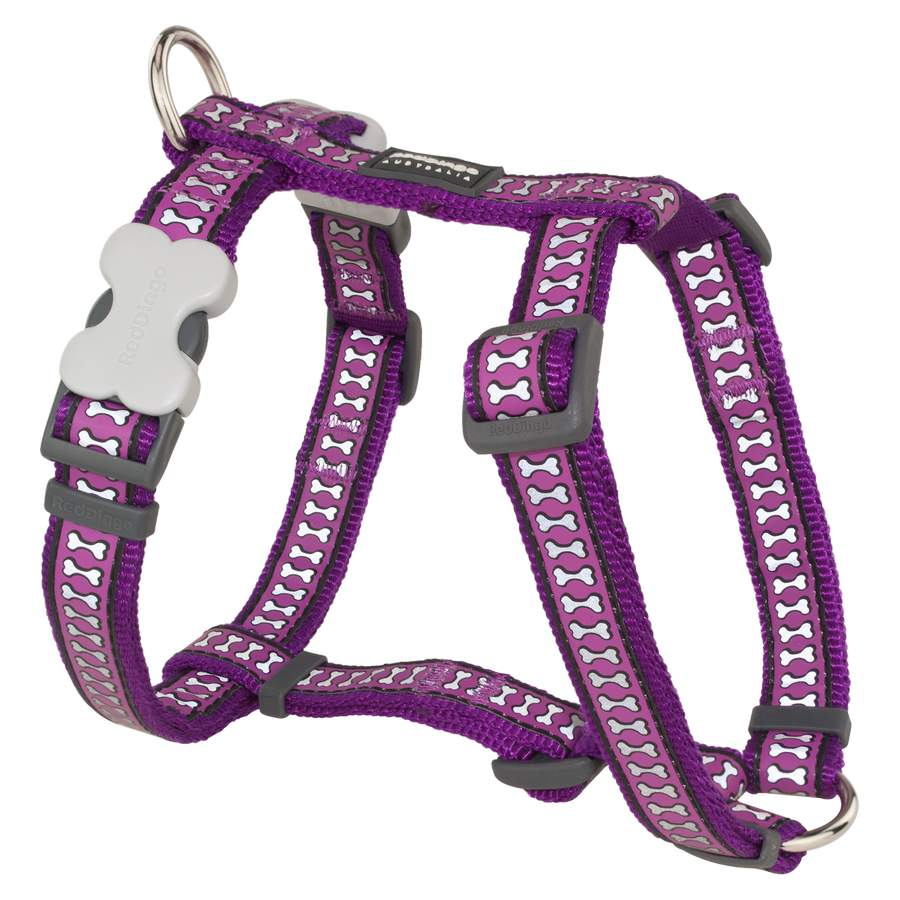 Red Dingo Reflective Purple Small Dog Harness