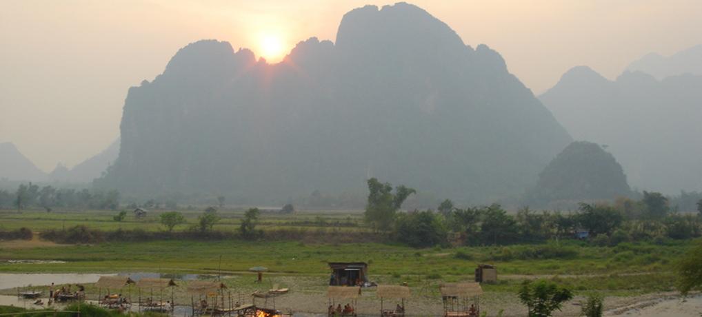 Sunday Afternoon Along Vang Vieng's Riverbanks