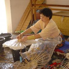 Making umbrellas in Bor Sang Village, Chiang Mai