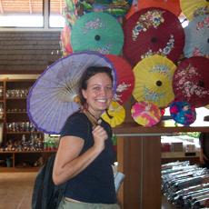 Umbrella shopping in Bo Sang