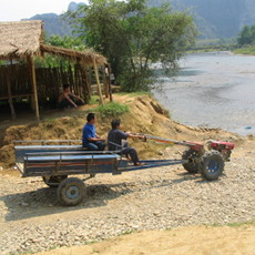 Vang Vieng transportation around town