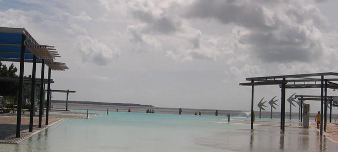 Lagoon lying along the Esplanade