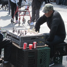 NYC chess players in Union Square.
