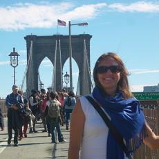 Beautiful day on the Brooklyn Bridge