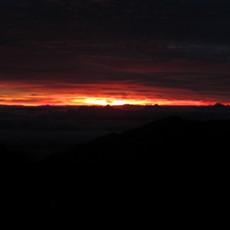 Dawn breaking at Haleakala  National Park
