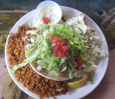 Maui's fantastic fish tacos = supreme happiness.