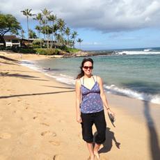 Relaxing at Napili Bay, Maui
