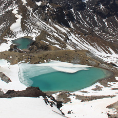 "Sulfur gives these ""Emerald Lakes"" there startling color."