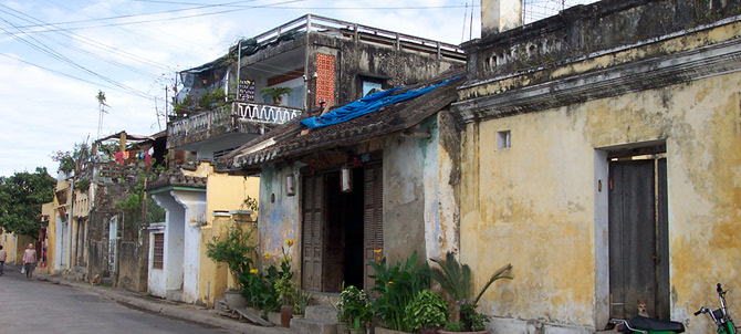 Gorgeous architecture in Old Town Hoi An.