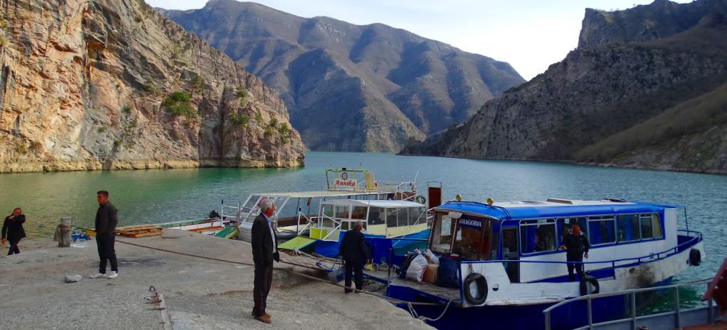 Taking the Lake Koman Ferry in Albania