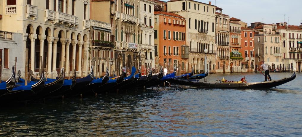 Taking a Gondola in Venice, Italy