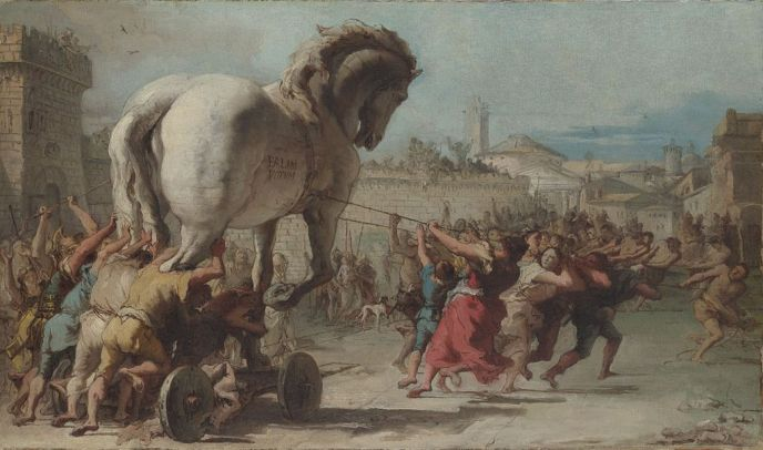 Giovanni_Domenico_Tiepolo_-_The_Procession_of_the_Trojan_Horse_in_Troy_-_WGA22382