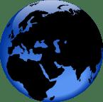 Mid East globe