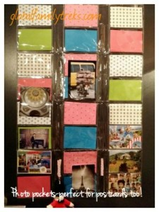 Simple Postcard Display: Hanging Photo Pockets