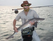 Jacques with a lovely Smooth hound Shark -
