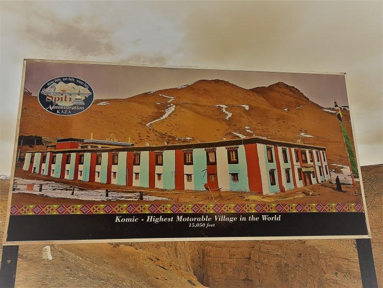 World's highest motorable village Komic
