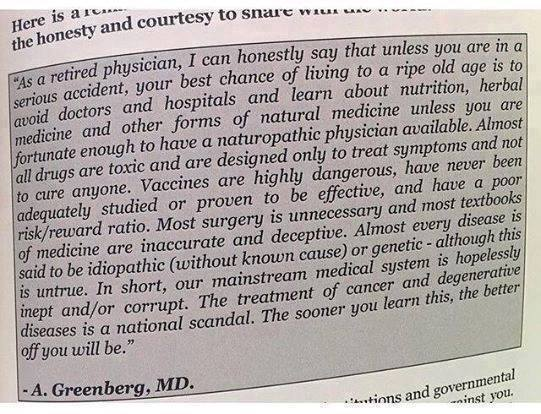 dr allen greenberg Politicians vs Doctors on Vaccines, Quacks and Hippies on the Internet