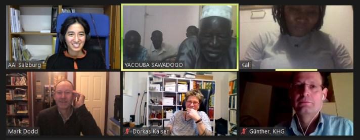 Yacouba Sawadogo im Webinar von Afro-Asiatisches Institut Salzburg