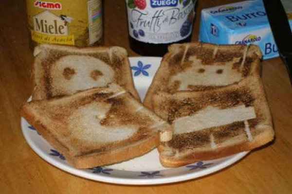 Classic gaming toast [pic]