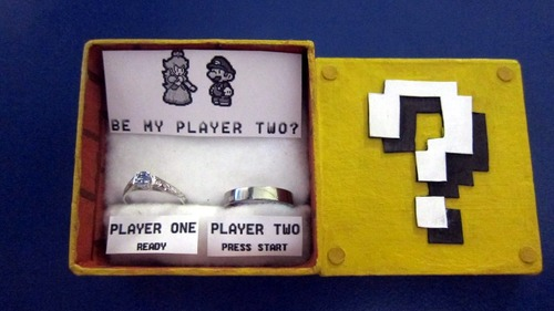 Geektastic Super Mario Bros Marriage Proposal [pic]