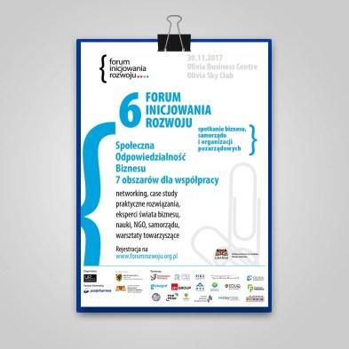 Plakat Forum Inicjowania Rozwoju 2017