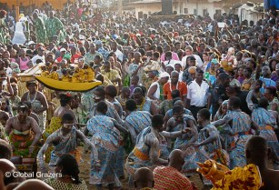 Abissa, Grand Bassam, Ivory Coast, Dancers Perform for their King
