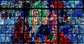 Chagall Window close up in Sarrebourg