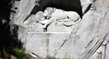 Lion monument in Lucerne copy