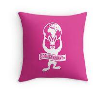 Global Gym Bunny Throw Pillow