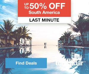 Up to 50% off South America
